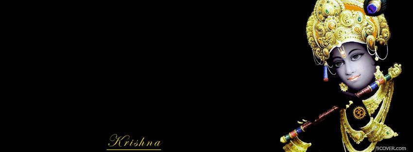 Photo krishna gold religions Facebook Cover for Free