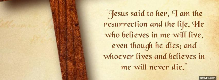 Photo jesus quote religions Facebook Cover for Free