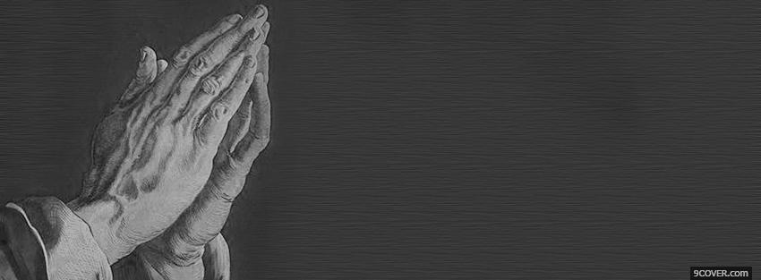 Photo black and white praying Facebook Cover for Free