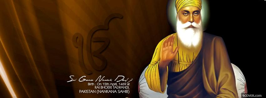 Photo guru nanak dev ji Facebook Cover for Free