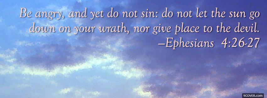 Photo ephesians quote religions Facebook Cover for Free