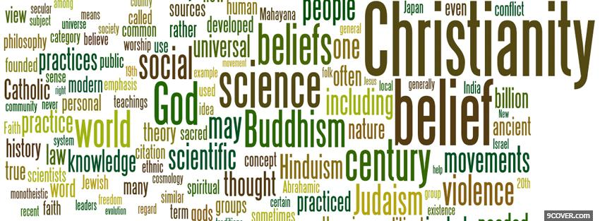 Photo religious words Facebook Cover for Free