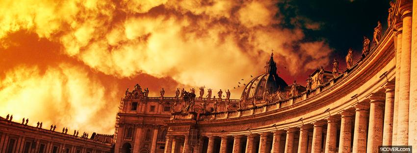 Photo vatican clouds religions Facebook Cover for Free