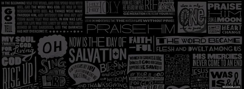 Photo religions praise salvation faith Facebook Cover for Free