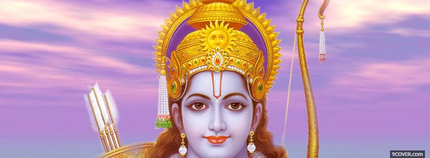 Photo lord rama hinduism religions Facebook Cover for Free