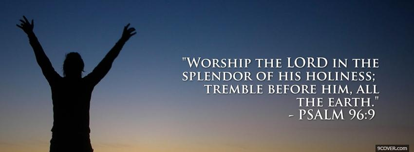 Photo worship the lord religions Facebook Cover for Free