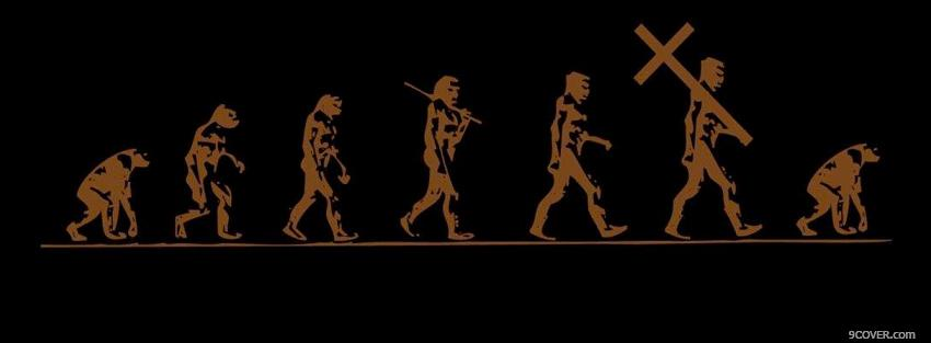 Photo religion evolution Facebook Cover for Free