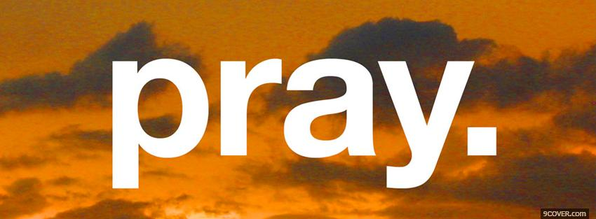 Photo pray religions Facebook Cover for Free