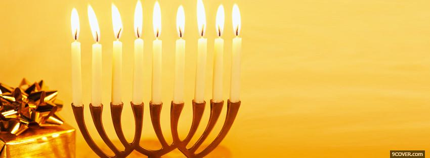Photo hanukkah religions Facebook Cover for Free