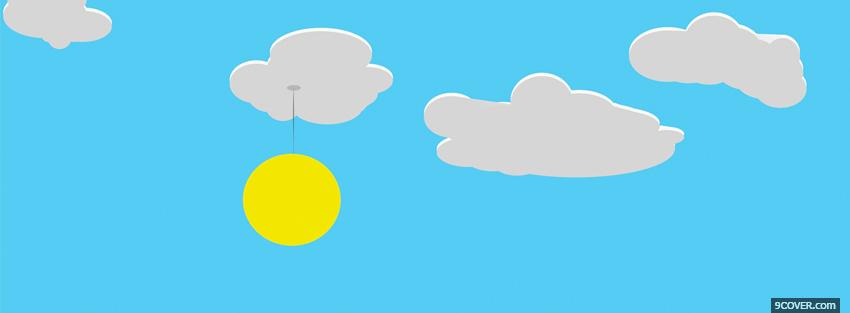 Photo clouds and sun simple Facebook Cover for Free