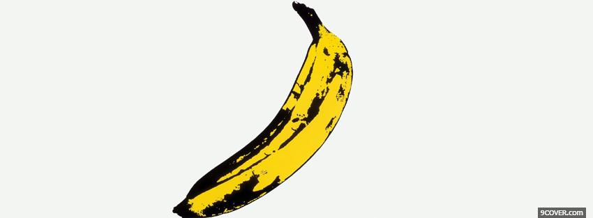 Photo yellow black banana simple Facebook Cover for Free