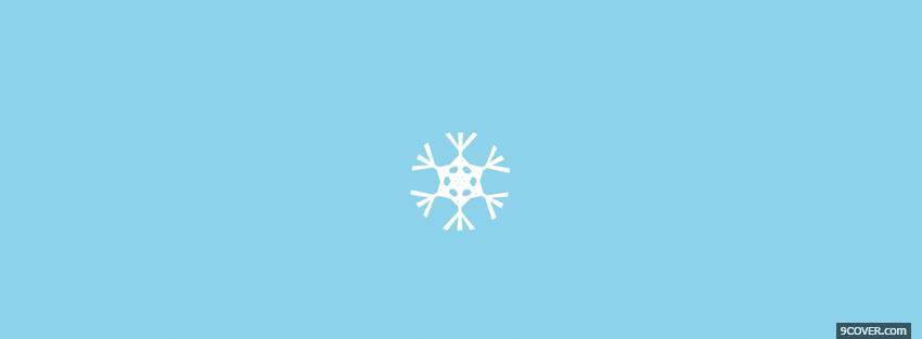 Photo snowflake simple Facebook Cover for Free