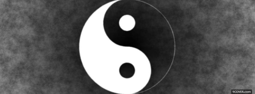 Photo ying yang sign simple Facebook Cover for Free