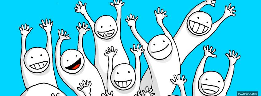 Photo happy people simple Facebook Cover for Free