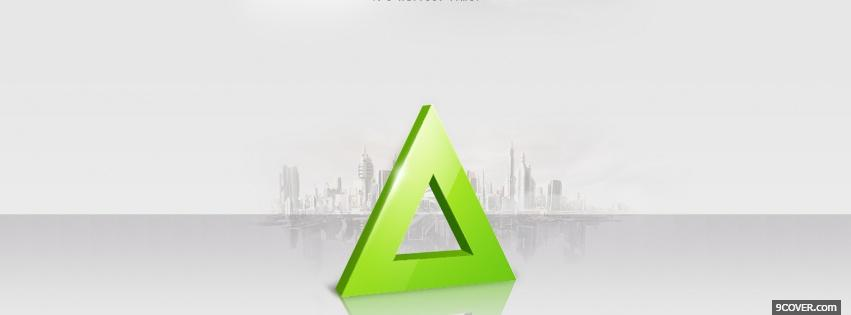 Photo lime triangle simple Facebook Cover for Free
