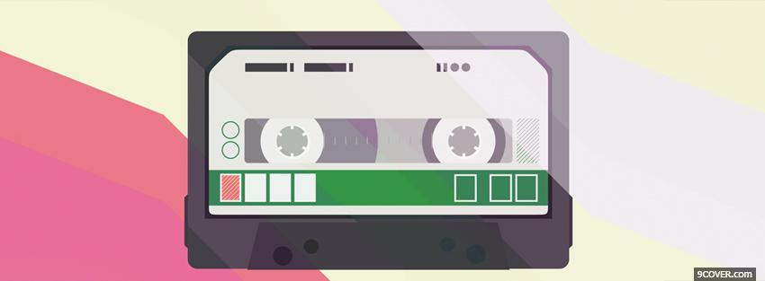 Photo tape simple Facebook Cover for Free
