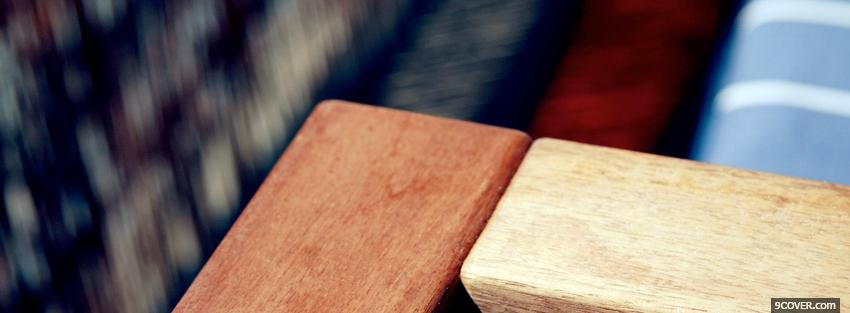 Photo wooden blocks simple Facebook Cover for Free
