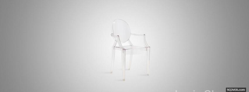 Photo transparent chair simple Facebook Cover for Free