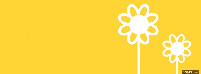 Photo yellow white flowers Facebook Cover for Free