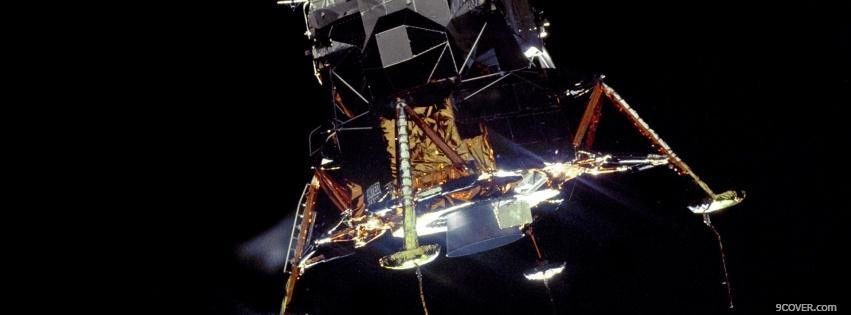 Photo lunar module space Facebook Cover for Free