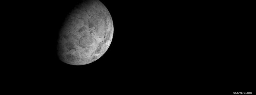 Photo moon scenery in space Facebook Cover for Free