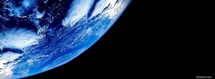 Photo view of earth space Facebook Cover for Free