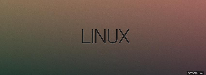 Photo linux technology Facebook Cover for Free