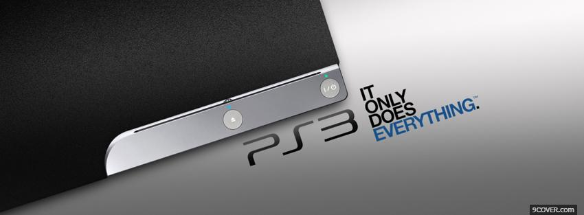 Photo ps3 it does everything Facebook Cover for Free