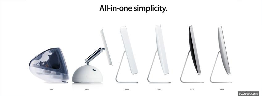 Photo imac evolution technology Facebook Cover for Free