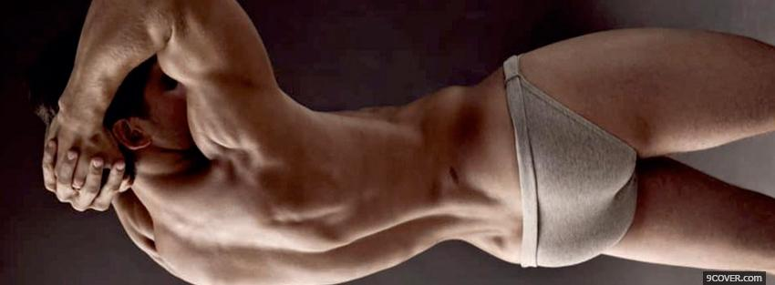Photo nice back sexy men Facebook Cover for Free