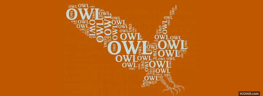 Photo landing owl typography Facebook Cover for Free