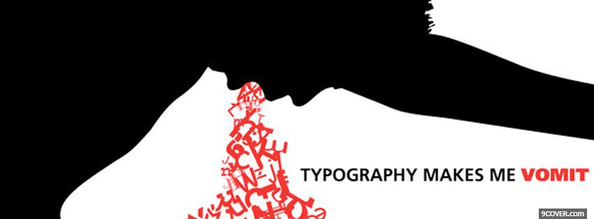 Photo red vomit typography Facebook Cover for Free