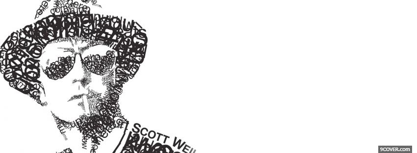 Photo scott weiland typography Facebook Cover for Free