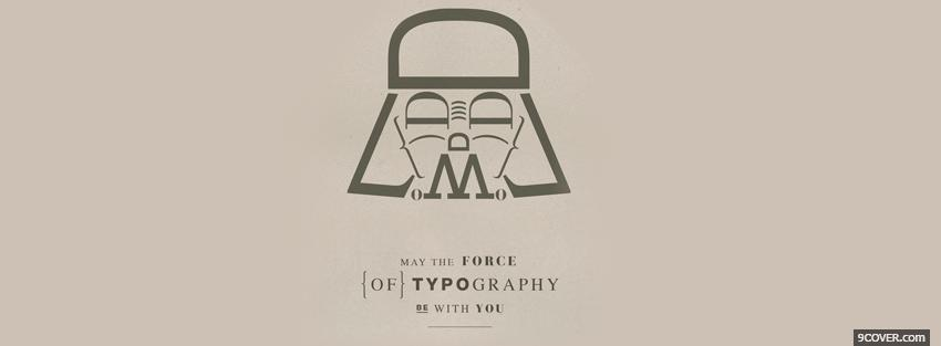 Photo force of typography Facebook Cover for Free