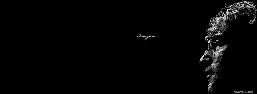 Photo John Lennon Typography Facebook Cover For Free