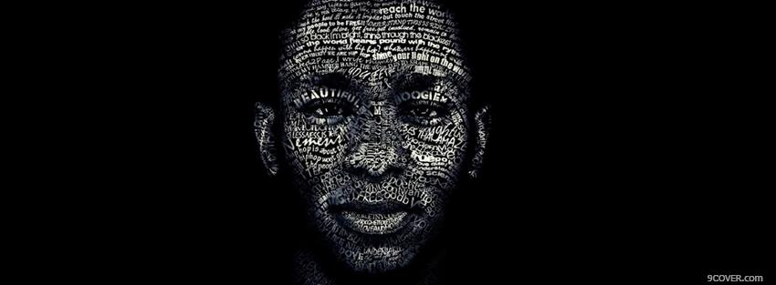 Photo mos def portrait typography Facebook Cover for Free
