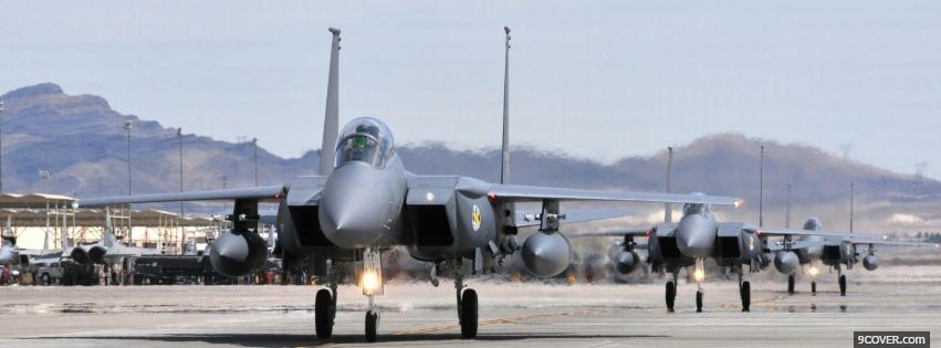 Photo f15 eagle aircraft war Facebook Cover for Free