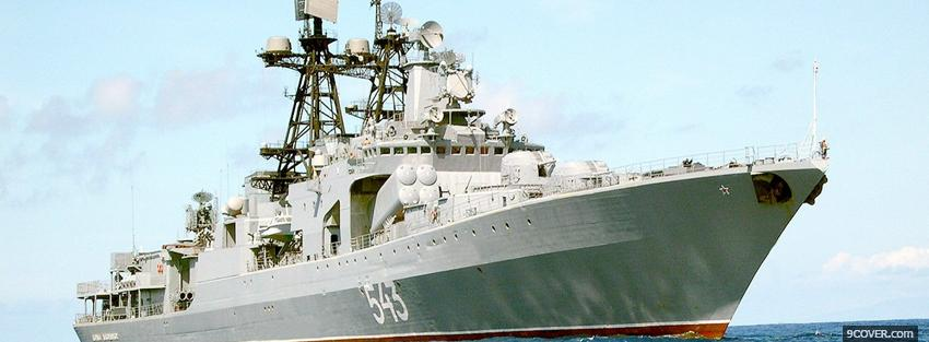 Photo russian vice admiral kulakov Facebook Cover for Free
