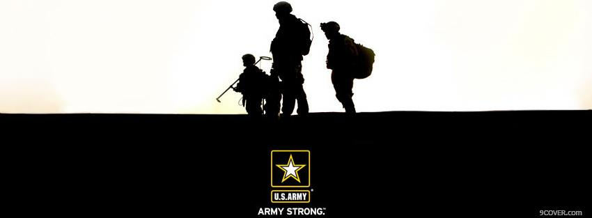 Photo army strong war Facebook Cover for Free
