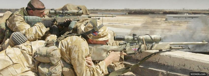 Photo british snipers war Facebook Cover for Free