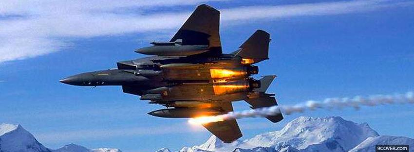 Photo shooting missile military war Facebook Cover for Free