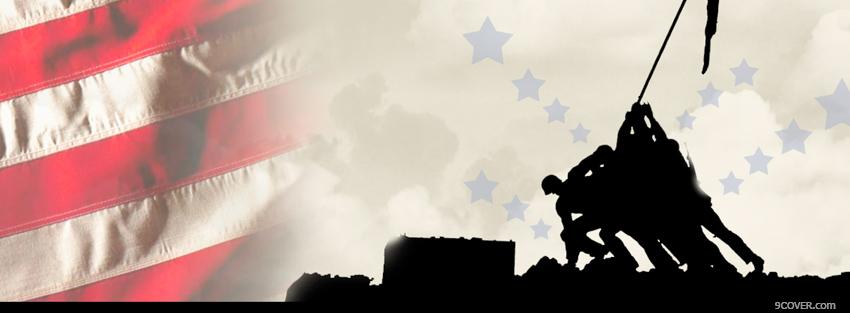 Photo veterans day war Facebook Cover for Free