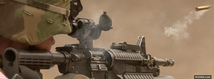 Photo shooting soldier war Facebook Cover for Free