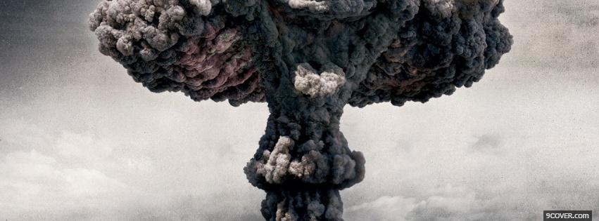 Photo atomic bomb explosion war Facebook Cover for Free