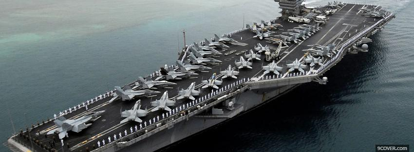 Photo uss john c stennis war Facebook Cover for Free