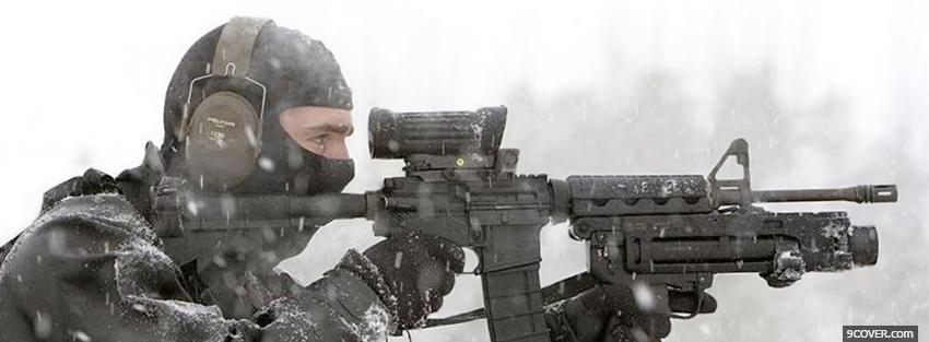 Photo snow swat military war Facebook Cover for Free