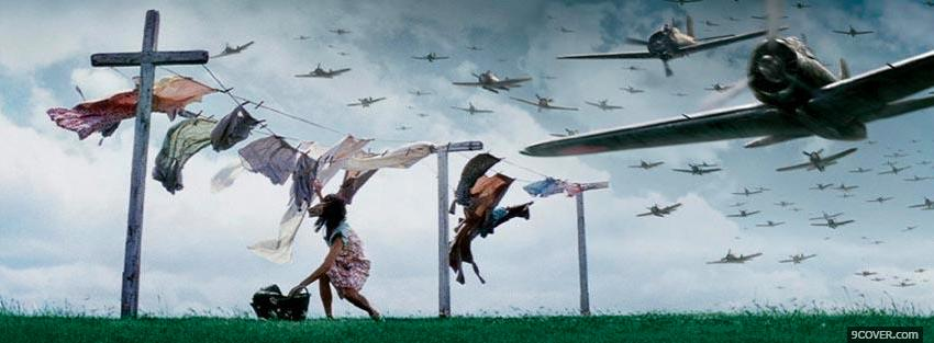 Photo planes invading war Facebook Cover for Free