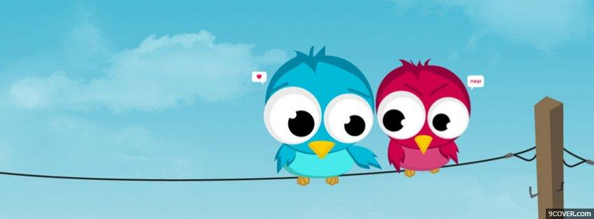 Photo Two Birds In Love Facebook Cover for Free