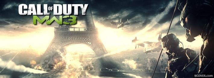 Photo Call Of Duty MW3  Facebook Cover for Free