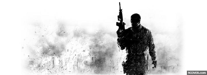 Photo Call Of Duty Facebook Cover for Free